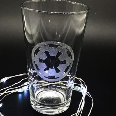 Etched 16oz pub glass - Empire