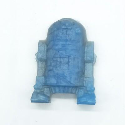 Blue & Silver Robot resin magnet