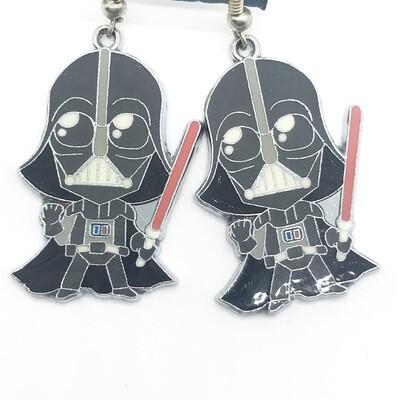 Cute evil lord character earrings