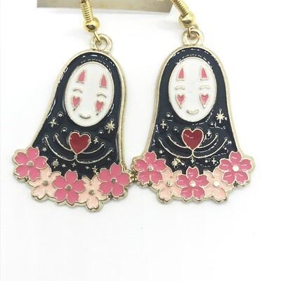 Faceless friend with flowers earrings