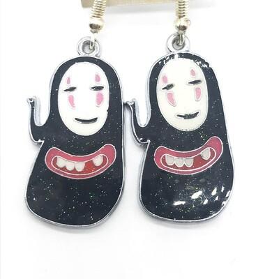 Faceless friend with teeth earrings