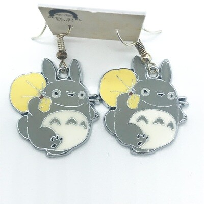 Grey neighbor friend with yellow bag earrings
