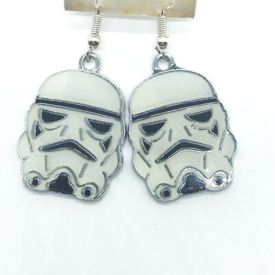 Trooper heads earrings