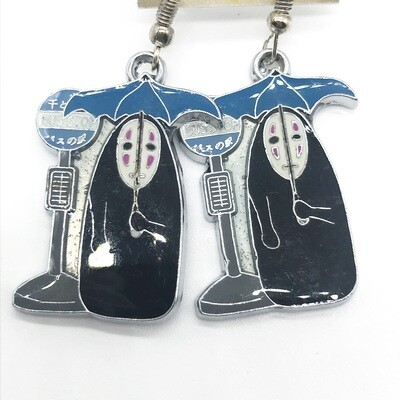 Faceless friend at a bus stop earrings