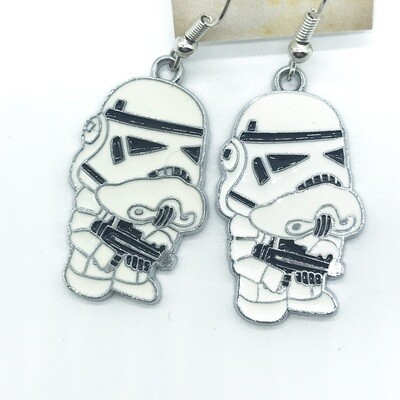 Grumpy trooper earrings