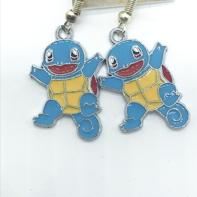 Blue and yellow turtle pet earrings