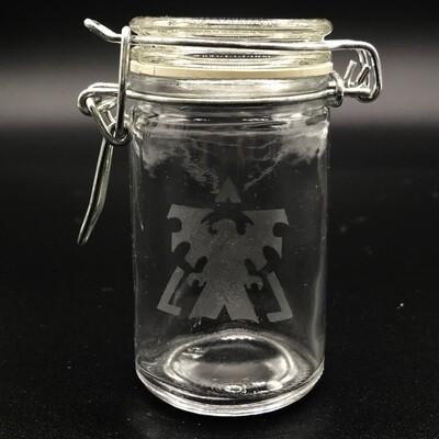 Etched 3oz glass jar - Terran