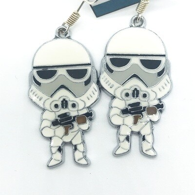 Cute trooper earrings