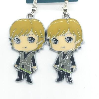 Young male hero earrings
