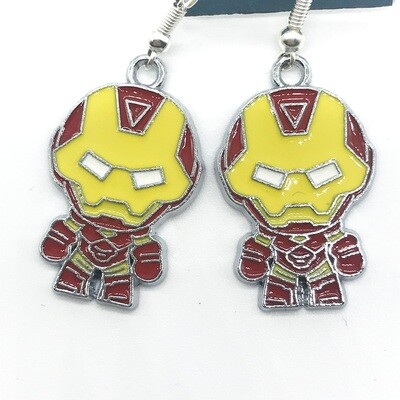 Iron hero earrings