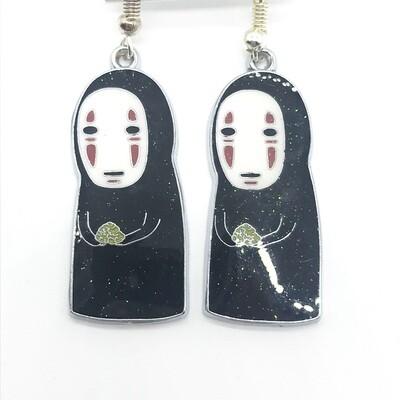 Sad faceless friend earrings