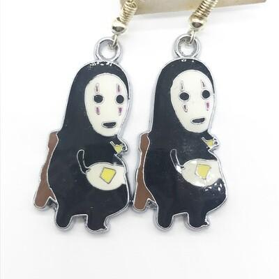 Faceless friend with breakfast earrings