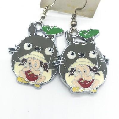 Grey neighbor friend with child friend earrings