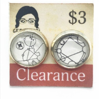 Photo Earrings - Gallifreyan