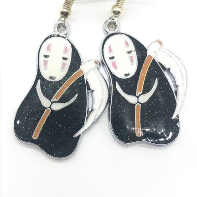 Faceless friend with a scythe earrings