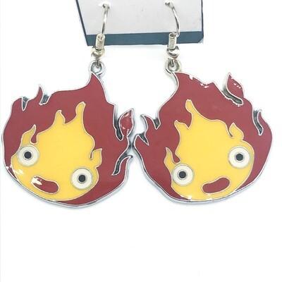 Fire pet earrings