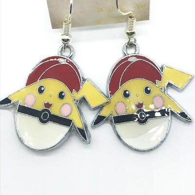 Lightning pet in ball earrings
