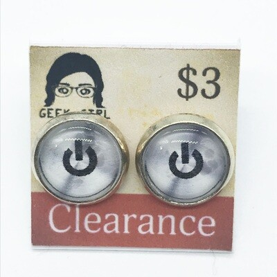 Photo Earrings - Power button
