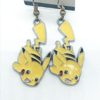 Hanging by tail lightning pet earrings