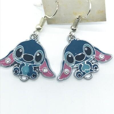 Blue alien friend earrings
