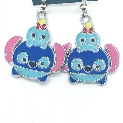 Baby blue alien friend earrings