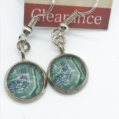 Photo Earrings - Dangle circuit boards