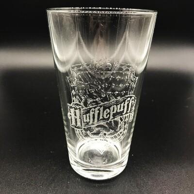 Etched 16oz pub glass - Loyal Wizarding House
