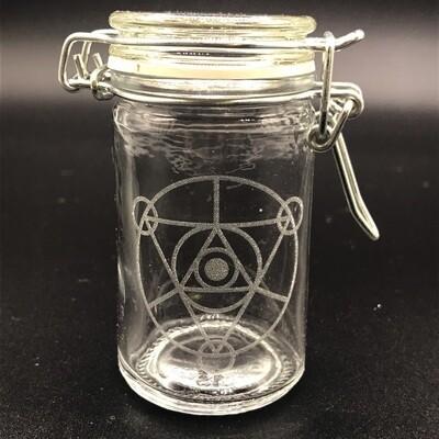 Etched 3oz glass jar - Dark Crystal