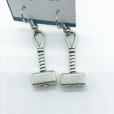 Thor's hammer earrings