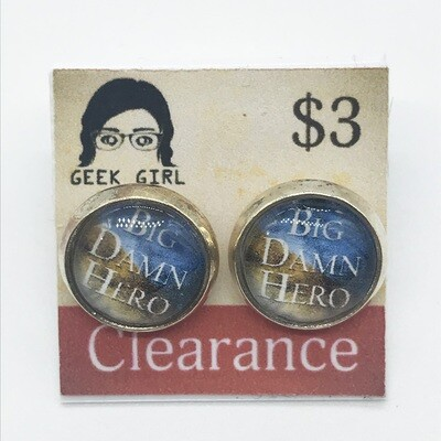 Photo Earrings - Big Damn Hero