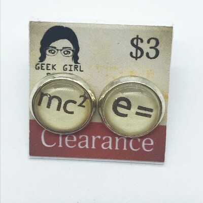 Photo Earrings - E=mc2
