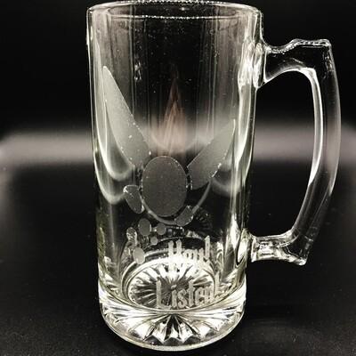 Etched 26oz glass stein - Navi