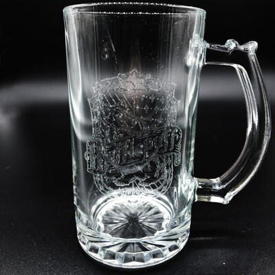 Etched 13oz glass mini stein - Loyal Wizard House