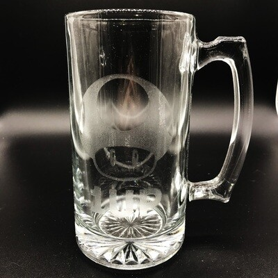 Etched 26oz glass stein - One Up