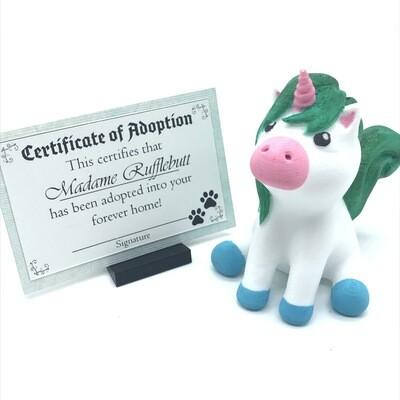 Adopt a unicorn - Madame Rufflebutt