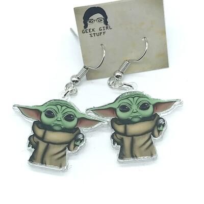 Child acrylic charm earrings