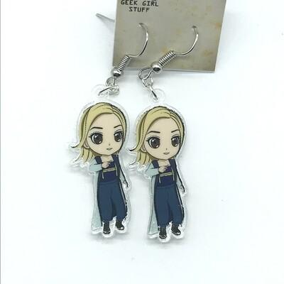 Doctor acrylic charm earrings