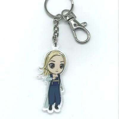 Doctor acrylic charm keychain, zipper clip
