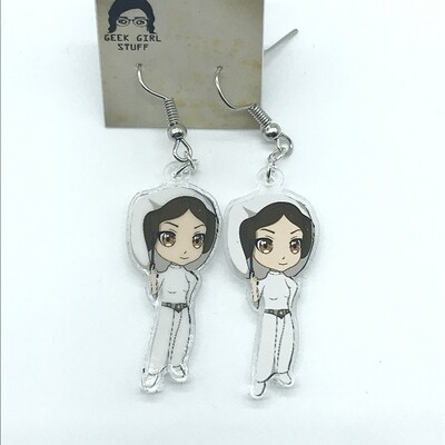Leia acrylic charm earrings