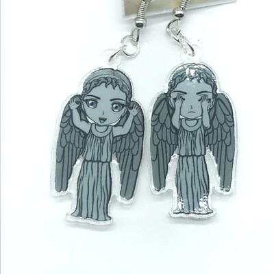 Angel rawr/weeping mixed acrylic charm earrings
