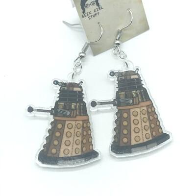 Dalek acrylic charm earrings