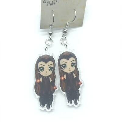 Wanda acrylic charm earrings