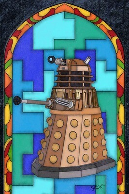 Stained Glass - Dalek painting