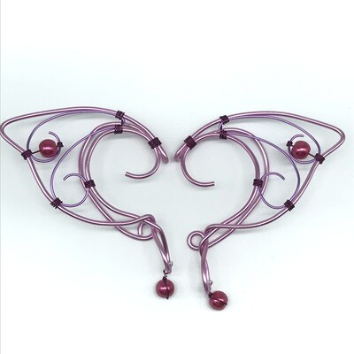 Elf Ear Cuff - Dual Tone Pink with Pink Beads