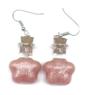 Potion Earrings - Peach, flower bottle