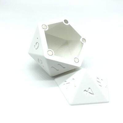 D20 Dice Box - White