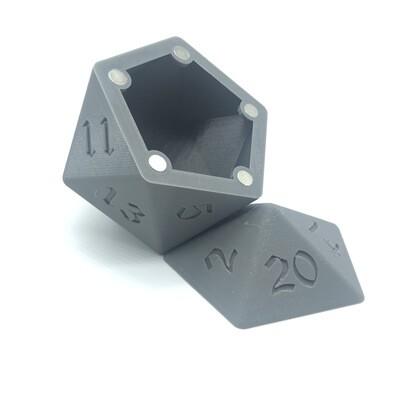 D20 Dice Box - Grey