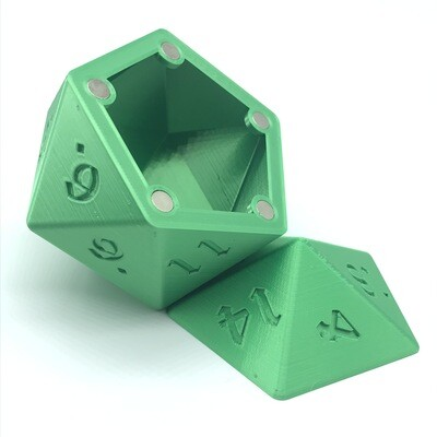 D20 Dice Box - Emerald Green