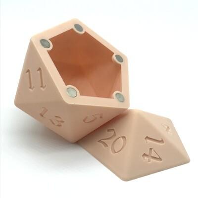 D20 Dice Box - Crash Test Dummy Pink