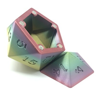 D20 Dice Box - Multi-color variation 2